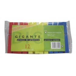 PINZAS PLAST GIGANTE 12 UN