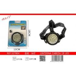 LINTERNA CABEZA 19 LED 7804