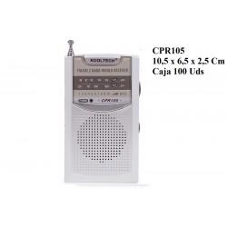 RADIO AM/FM PLATEADA CPR108